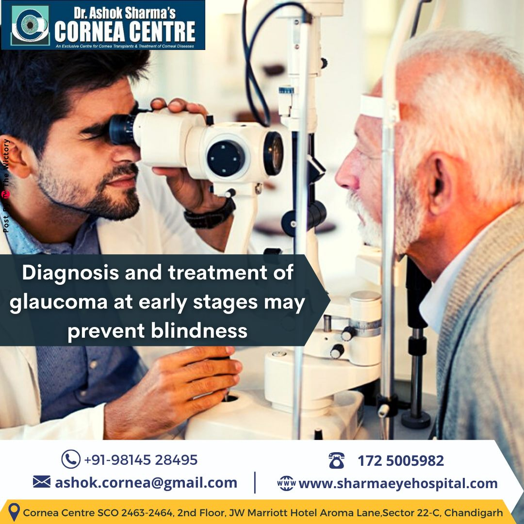Diagnosis and treatment of glaucoma at early stages may prevent blindness