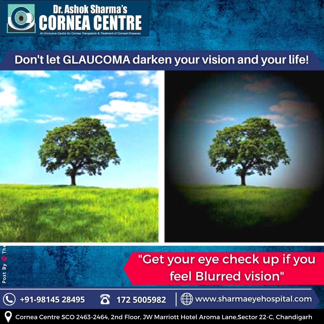 Don't let GLAUCOMA darken your vision and your life